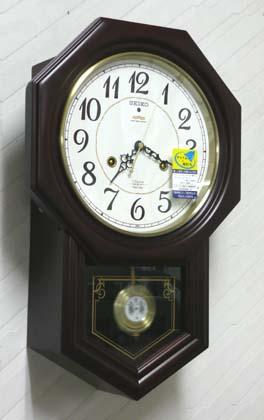 セイコー 木枠の柱時計 RQ205B