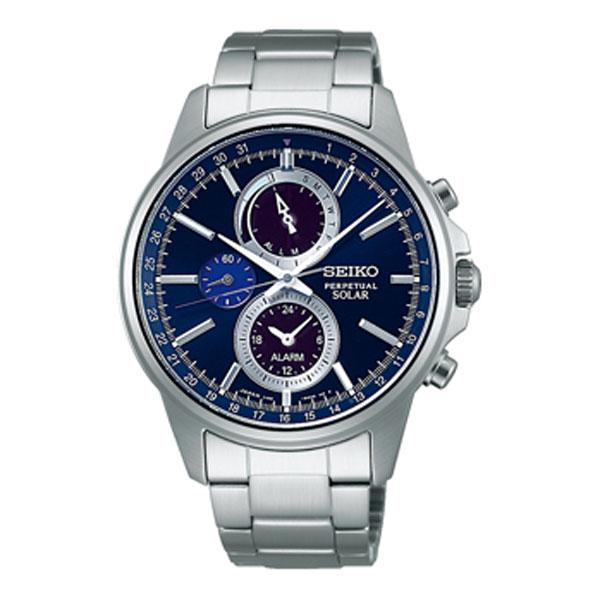 lowest price 0b29d 49c1f SEIKO SPIRIT 男性用 SBPJ003 セイコー クロノグラフ ソーラー メンズ腕時計 名入れ刻印対応、有料 取り寄せ品