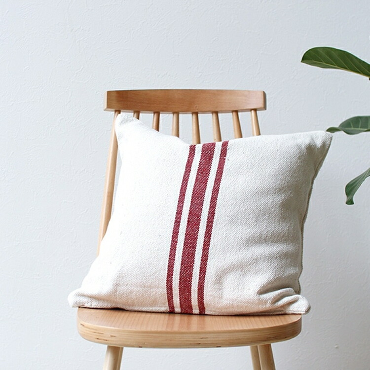 "Thick Cotton Cushion Cover ""Ivory07"""