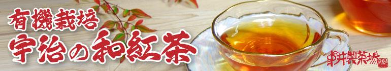 有機栽培 宇治の和紅茶 有機栽培宇治茶「有無」の茶葉で作った国産紅茶。 茶葉の甘い香り、渋味・酸味が少なく後口に甘味やうま味が感じられる上品な味わいは、「宇治の和紅茶」の名に恥じない自慢の逸品