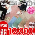 綺麗なパステルカラーのお値打ちカーペット ラグ じゅうたん 抗菌・ホットカーペット対応・安心の日本製! 6帖 352x352