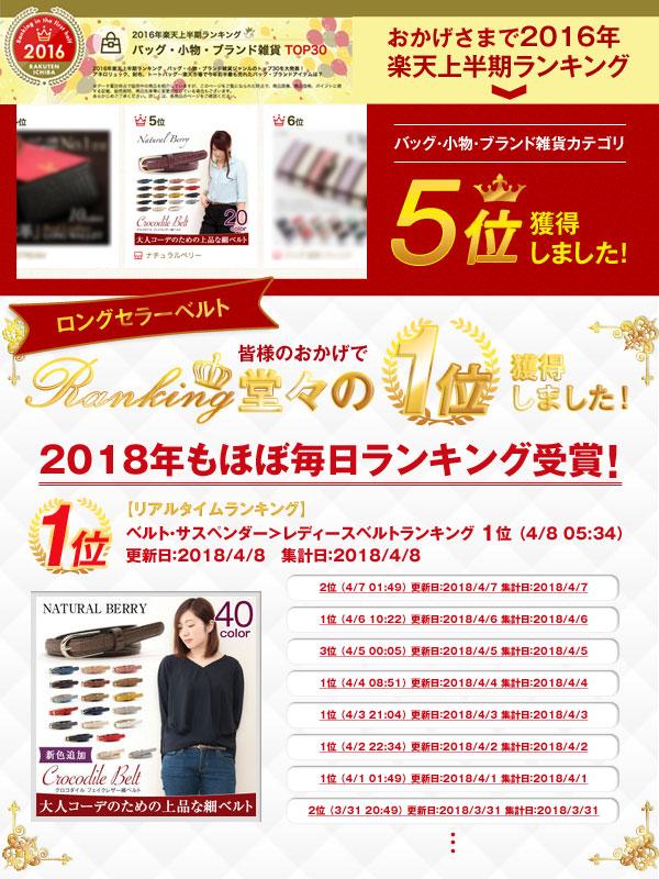 楽天上半期ランキング バッグ・小物・ブランド雑貨カテゴリ 5位獲得