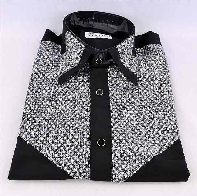 スパンコールシャツ