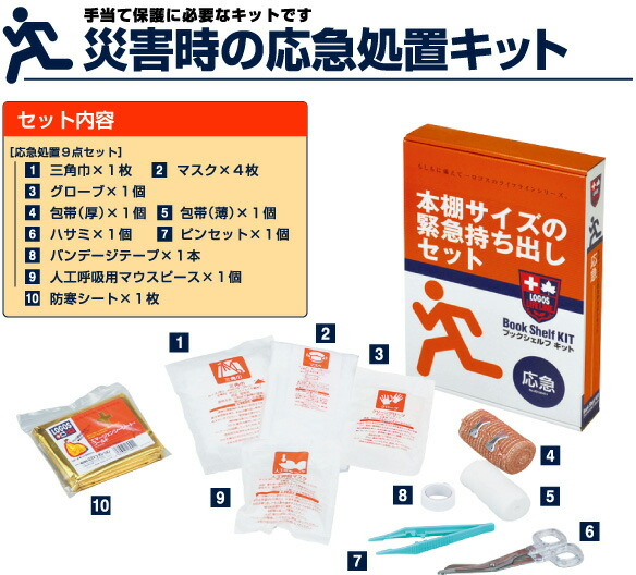Auc Odyamakei First Aid Kit Outdoor Logos Logos Lll Bookshelf