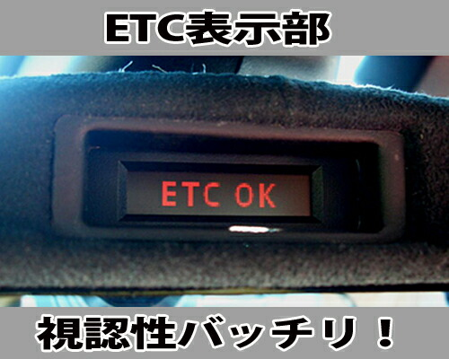 endccミラー ETC 表示部