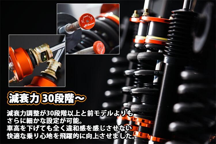 Scherzen(シャーゼン)×extend(エクステンド) フルタップ車高調サスペンションキット 商品説明8