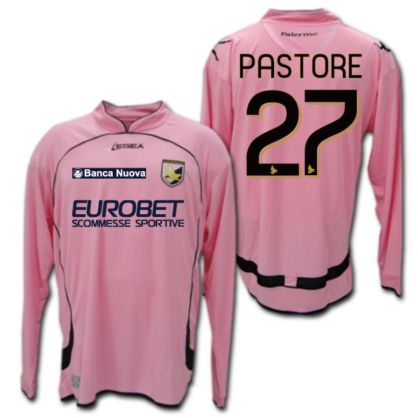 purchase cheap c5b37 bad4c O.K.A.Football: And Palermo 08 / 09 home (Pink) # 7 CAVANI ...