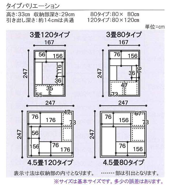 掘りごたつユニット 高床式畳収納ユニット