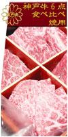 神戸牛6点食べ比べ焼肉