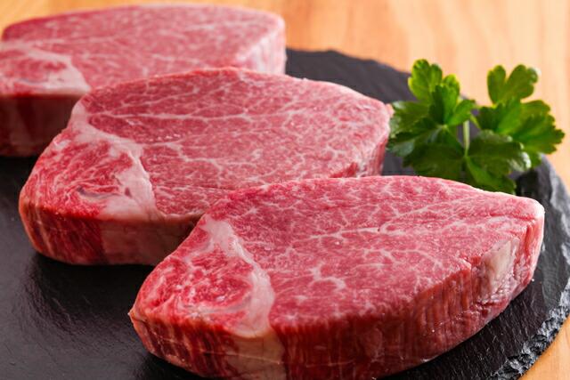 肉のヒライ『神戸牛ヘレステーキ150gx3枚』