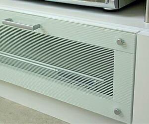ストライプガラス国産TVボード 150cm