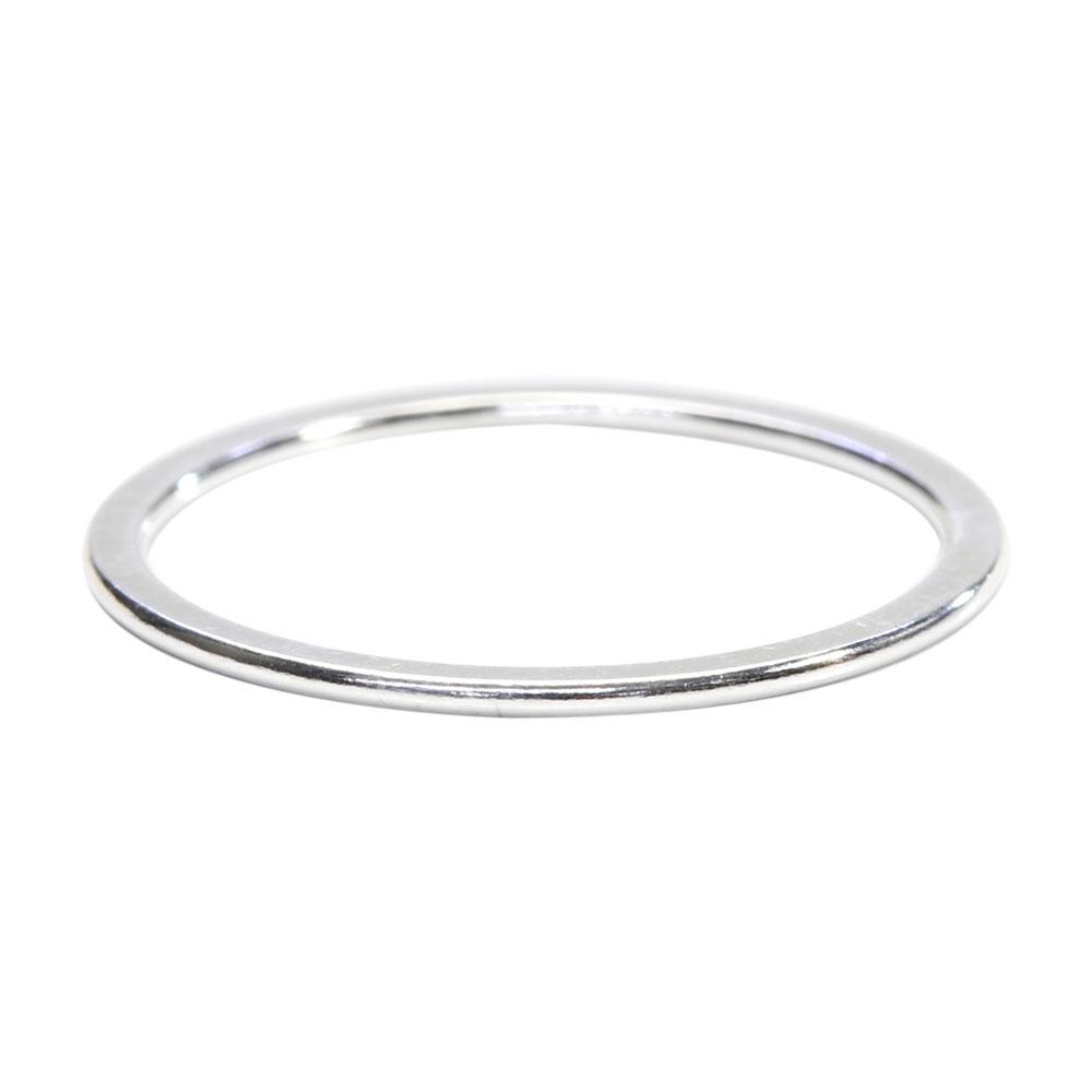 シルバー925 リング スタッキング 0.8×19.7mm(US Ring Size 7) 1個