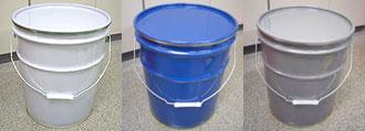 選べる3色!20リットル鉄製オープンペール缶