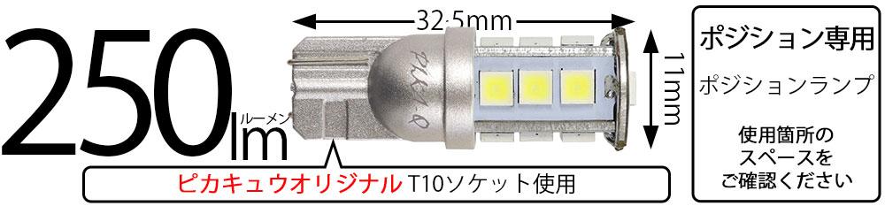 日亜化学工業製素子使用T10 日亜3030 13連