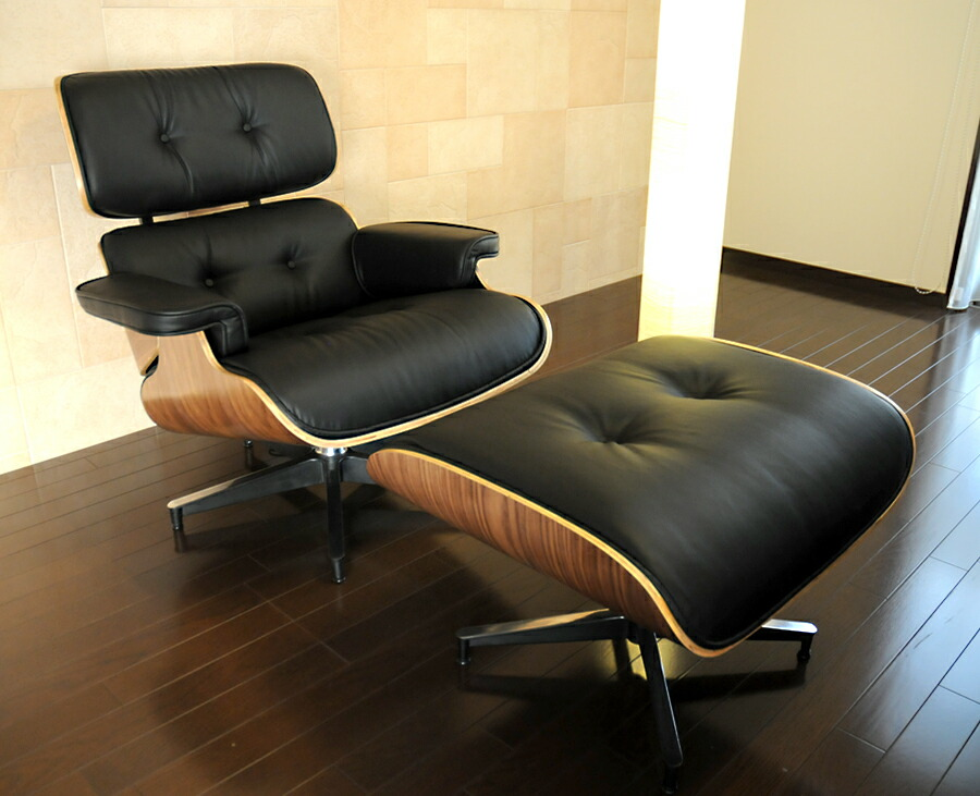 Auc Pleasure0905 Eames Lounge Chair And Ottoman Set Soft