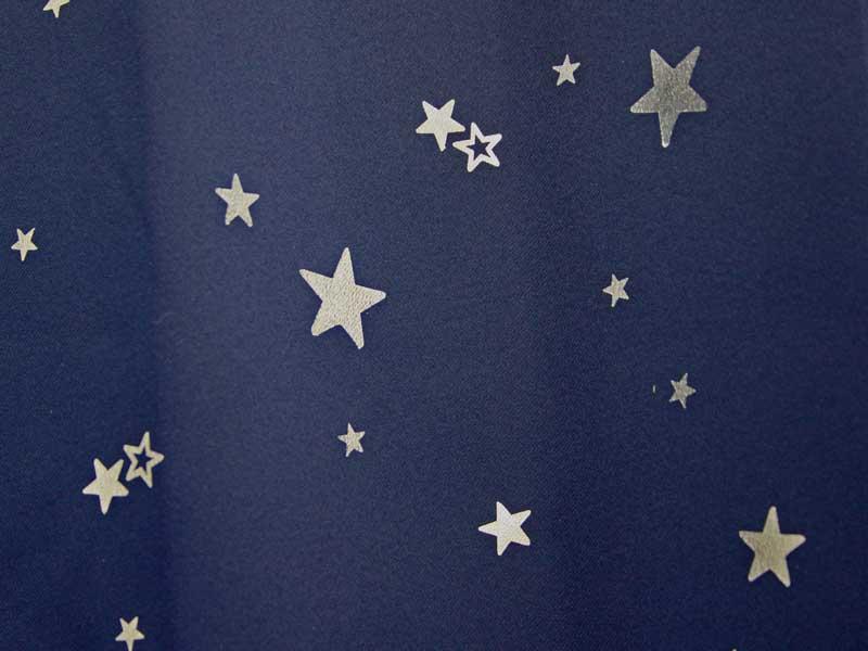 遮光厚地カーテン プラネット ブルー 紺色