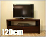 チーク無垢材_ TVボード120cm