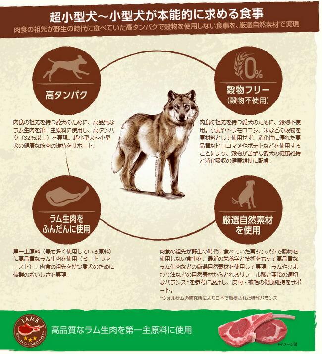ニュートロ ワイルド レシピ 超小型犬〜小型犬用 成犬用 ラム