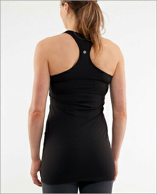 642c53cb98c59 lululemon tank top Yoga Cool Racerback Extra Long color  black □ is the  athlete made with lululemon does not feel any movement of the body