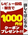 レビュー投稿・報告で500円分クーポンプレゼント