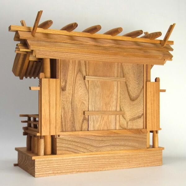 本格神棚セット 彫屋根三社宮