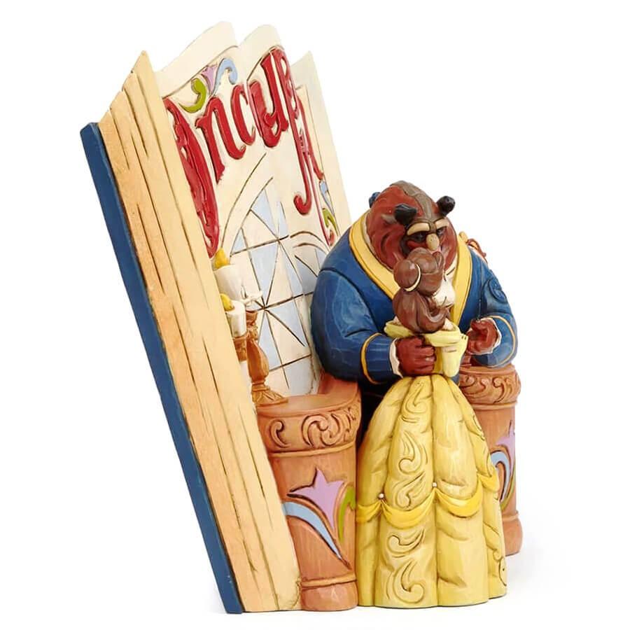 エネスコ enesco. ディズニー・トラディション Disney Traditions 美女と野獣の絵本 Beauty and the Beast Storybook 木彫り調フィギュア