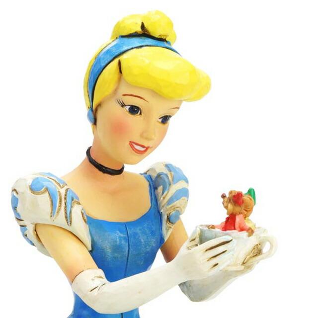 エネスコ enesco. ディズニー・トラディション Disney Traditions シンデレラ&ガス&ジャック Cinderella with Jaq and Gus 木彫り調フィギュア