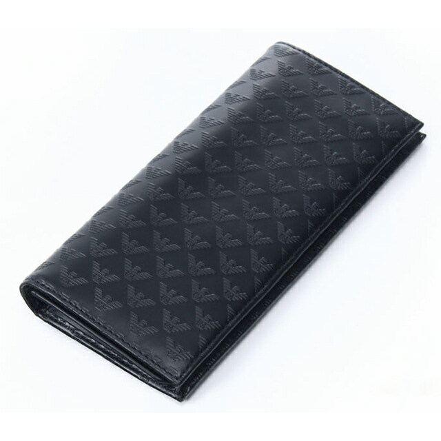 422ea597dc Armani Emporio Armani EMPORIO ARMANI wallet mens new black leather wallet  brand two bi-fold wallet black leather Christmas PORTAFOGLIO MINORCA ALL ...