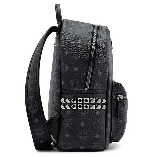 MCM エムシーエム リュックサック MMK6SVE37 SMALL STARK BACKPACK スモール スターク バックパック S ブラック BLACK mcm-mmk6sve37bk001
