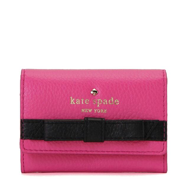 ケイトスペード COBBLE HILL BOW DARLA キーリング付 マルチケース(小銭入れ・定期入れ・カード入れ付) SONATA PINK