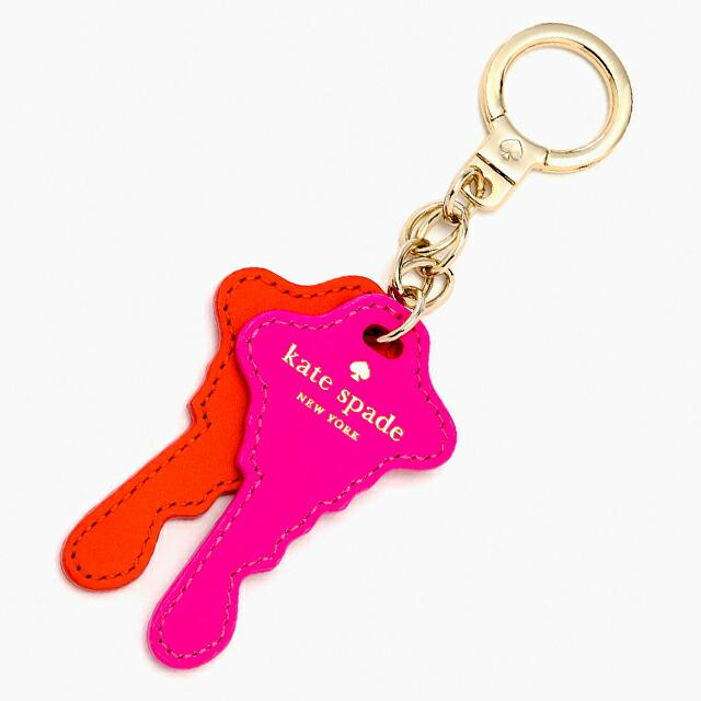 ケイト・スペード kate spade NEW YORK things we love keys keychain 私たちは、キーの形をしたキー・チェーンが好きです。 キーリング キーホルダー キーフォブ CYBER ORANGE VIVID SNAPDRAGON サイバー・オレンジ+ヴィヴィッド・スナップドラゴン