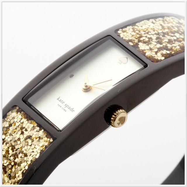 ケイトスペード carousel(カルーセル) レディースウォッチ 腕時計 ゴールド グリッター バングル