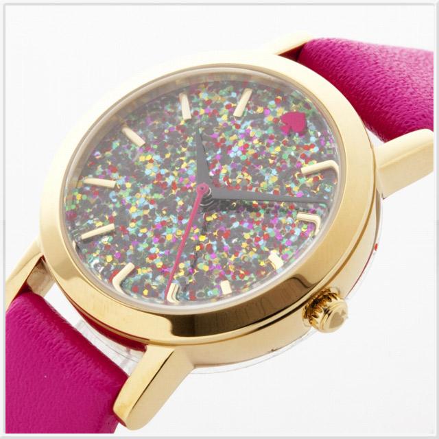 ケイトスペード Metro Glitter Mini(メトログリッターミニ) v-s.dragon レディースウォッチ 腕時計 ピンク