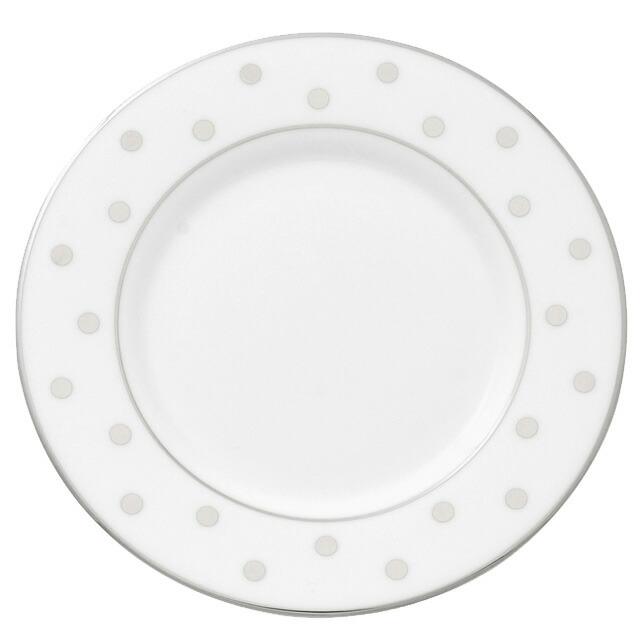 ケイト・スペード kate spade NEW YORK ララビー ロード プラチナ ソーサー プラチナカラーのお皿 LARABEE ROAD PLATINUM SAUCER ホワイト WHITE