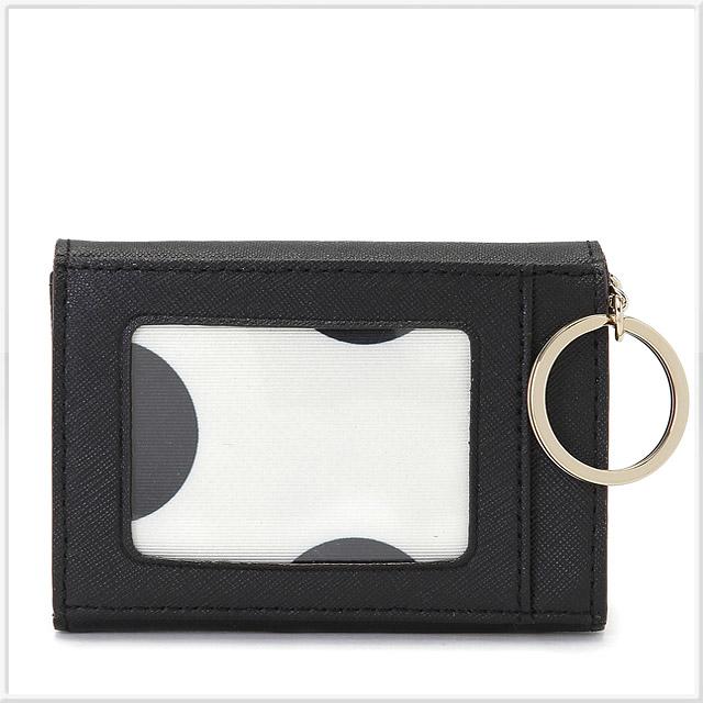 ケイトスペード CEDAR STREET DARLA キーリング付 マルチケース(小銭入れ・定期入れ・カード入れ付) BLACK