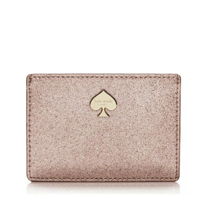 ケイトスペード GLITTER BUG CARD HOLDER グリッターラメ カードケース 名刺入れ ROSE GOLD