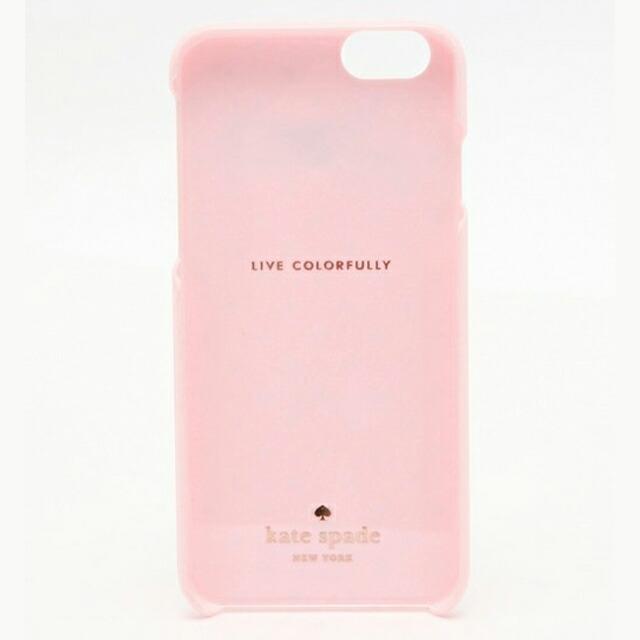 ケイト・スペード kate spade NEW YORK レジン アイフォン 6/6s ケース タイニー ゴールド ドット ボウ 小さなドットとリボン RESIN IPHONE 6 CASE TINY GOLD DOT BOW ピンク PINK
