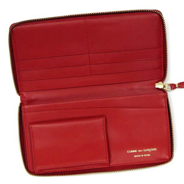 コム デ ギャルソン COMME des GARCONS ラウンドファスナー 長財布 PD PRINTED レッド cdg-sa0110pd-red
