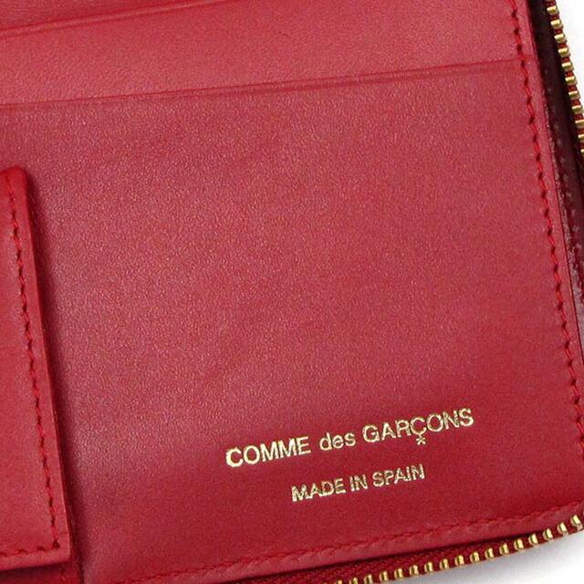 コム デ ギャルソン COMME des GARCONS ラウンドファスナー 長財布 EMBOSS レッド cdg-sa011eb-red