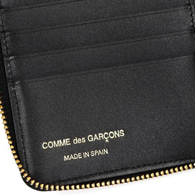 コム デ ギャルソン COMME des GARCONS ラウンドファスナー 二つ折り財布 EMBOSSES LOGO ブラック cdg-sa2100el-bla