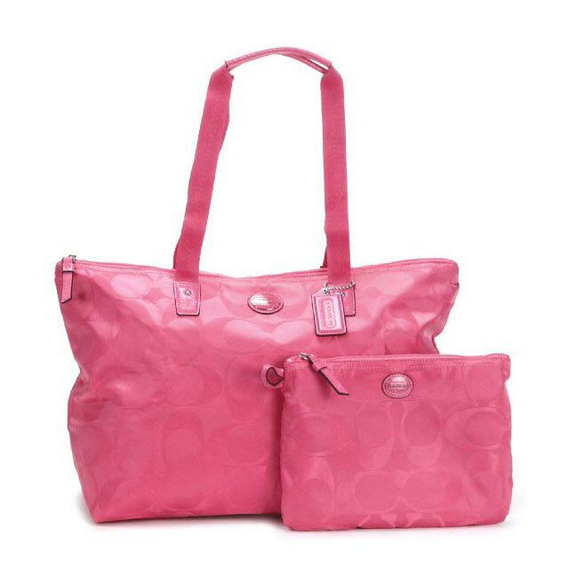 Folding OK attached to the coach COACH bag outlet tote bag shoulder bag  Lady's signature handbag
