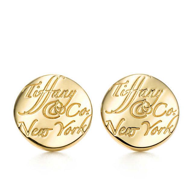 2d372be3b Salada Bowl: Tiffany TIFFANY pierced earrings notes earrings K18 ...
