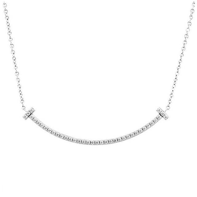 ティファニー TIFFANY&CO. 34684448 Tスマイル ダイアモンド ネックレス