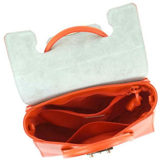 FURLA フルラ バッグ BGX6 METROPOLIS S SATCHEL メトロポリス スモール サッチェル ショルダー トート 820653 オレンジ frl-bgx6-820653