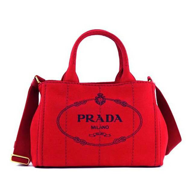 プラダ PRADA 1BG439 ZKI F0011 カナパ CANAPA 2WAY トートバッグ ハンドバッグ ショルダーストラップ付き ロッソ ROSSO レッド+ゴールド