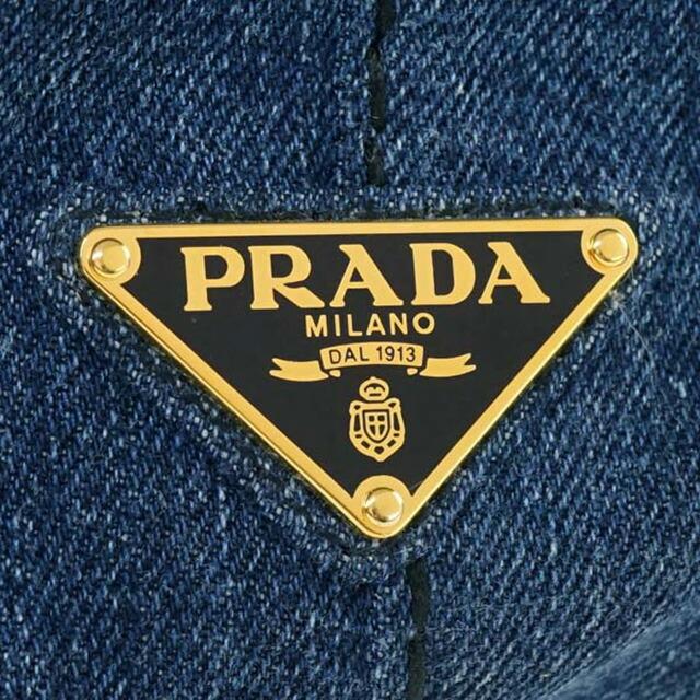 プラダ PRADA 1BG642 AJ6 F0008 カナパ CANAPA 2WAY トートバッグ ハンドバッグ ショルダーストラップ付き ブルー BLU ブルー+ゴールド