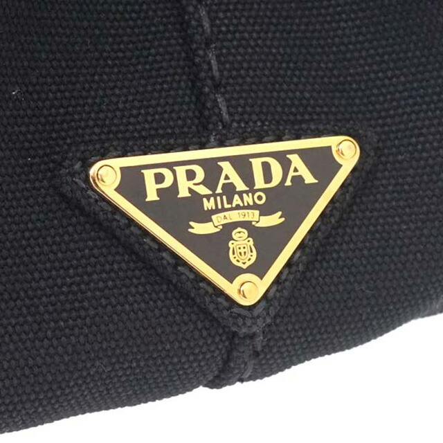 プラダ PRADA 1BG642 ZKI F0002 カナパ CANAPA 2WAY トートバッグ ハンドバッグ ショルダーストラップ付き ネロ NERO ブラック+ゴールド