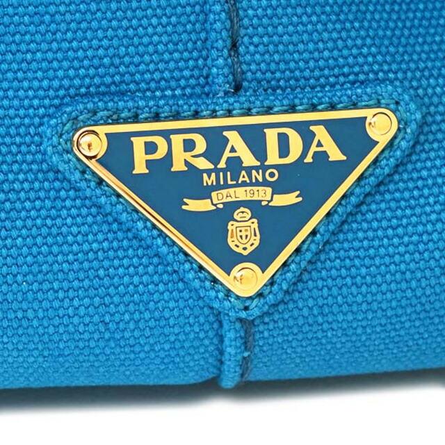 プラダ PRADA 1BG642 ZKI F0013 カナパ CANAPA 2WAY トートバッグ ハンドバッグ ショルダーストラップ付き アズーロ AZZURRO スカイブルー+ゴールド