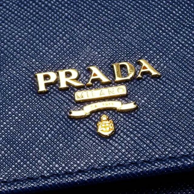 プラダ 長財布 サフィアーノ ブルー