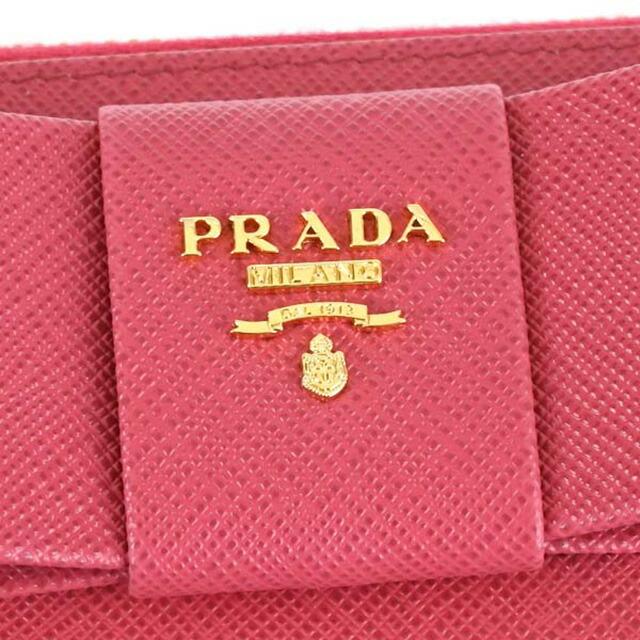 プラダ 長財布 サフィアーノ ペオニア ピンク